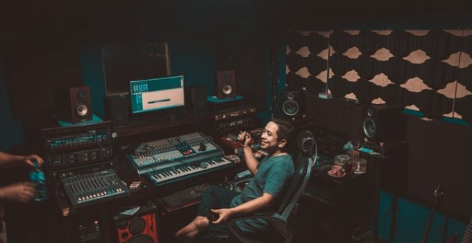 Music Producer In Studio