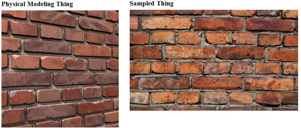 Physically Modeled Bricks & Sampled bricks