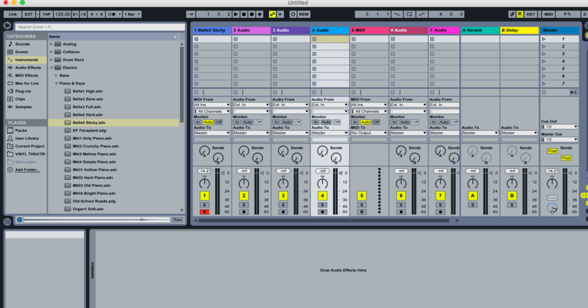 Interface Of Ableton Live