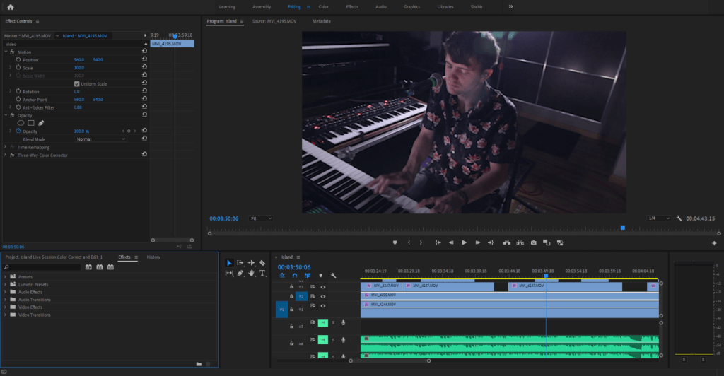 Recording Piano Videos In Editor