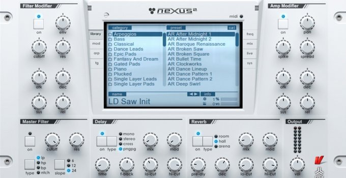 Interface of Nexus Presets