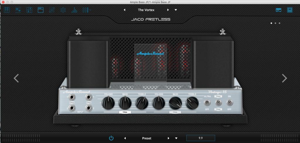 Amp simulator Ample Bass