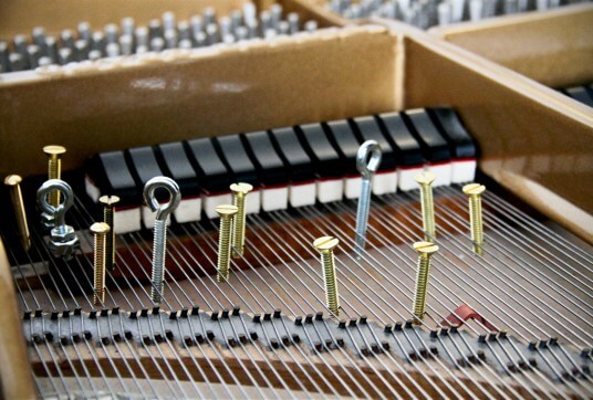 Bolts and Nuts in a piano