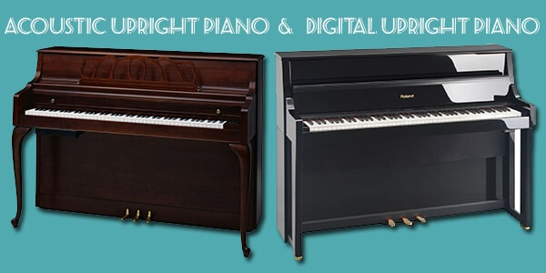 acoustic and digital pianos