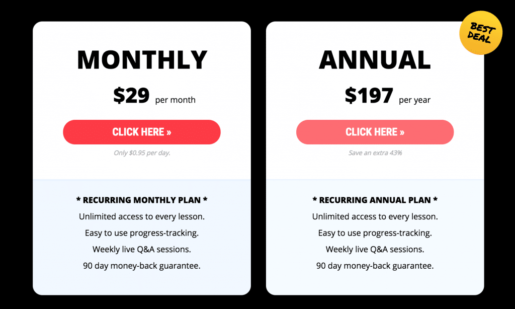 Pianote Pricing